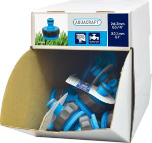 "AQUACRAFT® 552195, Display box, 70 ks, Adapter SoftTouch 1""-3/4"""